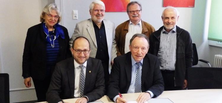 Unterzeichnung des Kooperationsvertrag mit der Stadt Schramberg