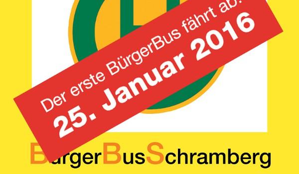 Der erste BürgerBus fährt ab: 25.01.2016