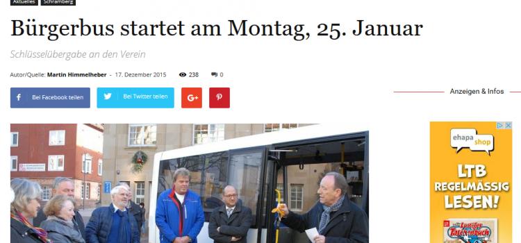 NRWZ Artikel: BürgerBus startet am Montag, 25. Januar