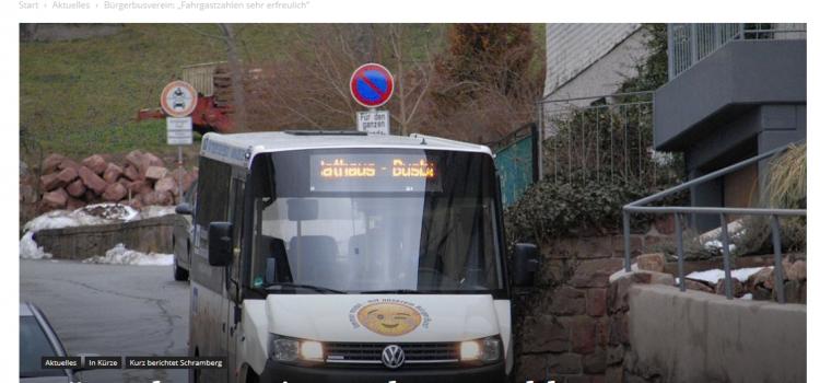 """NRWZ Artikel: Bürgerbusverein: """"Fahrgastzahlen sehr erfreulich"""""""