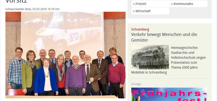 Schwabo Artikel: Matthias Kohlhase übernimmt Vorsitz