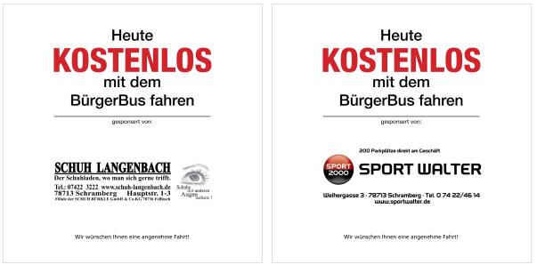 """Aktion """"freie Fahrt am Donnerstag"""" gesponsort durch den HGV Schramberg"""