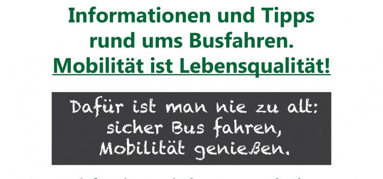 Einladung zum Senioren-Treff zum Thema: Mobilität ist Lebensqualität!