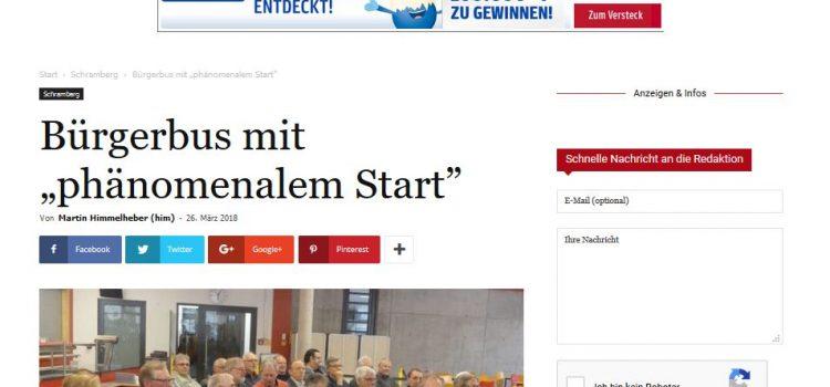 "NRWZ Artikel: Bürgerbus mit ""phänomenalem Start"""