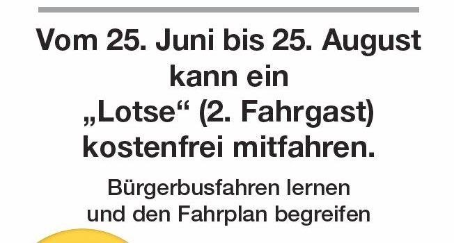 Aktion Sonderaktion im BürgerBus MitfahrPate