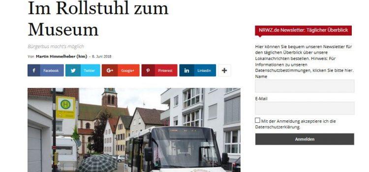 NRWZ Artikel: Im Rollstuhl zum Museum