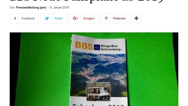 NRWZ-Artikel: BBS Neue Fahrpläne ab 2019