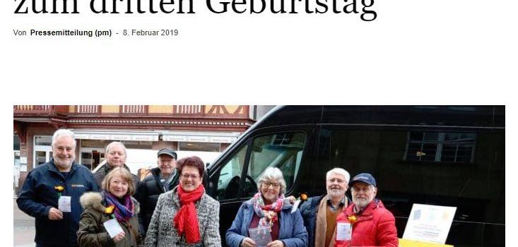 NRWZ Artikel: Bürgerbus Geburtstagsquiz zum dritten Geburtstag