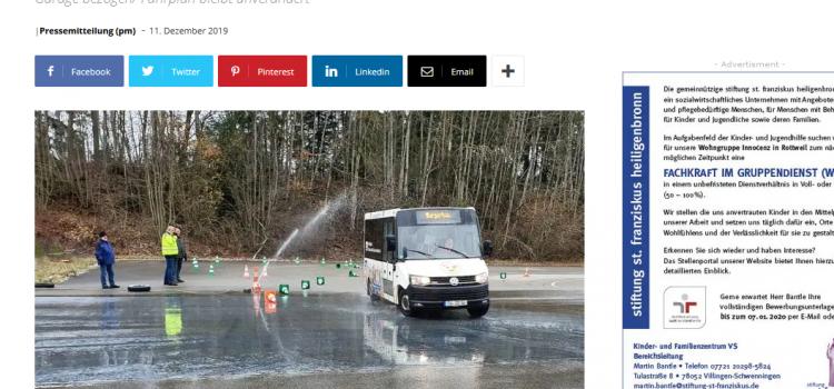 NRWZ Artikel: Sicherheitstraining für Bürgerbusfahrer