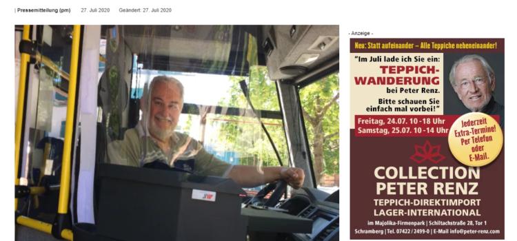 NRWZ Artikel: Schramberger Bürgerbus startet wieder